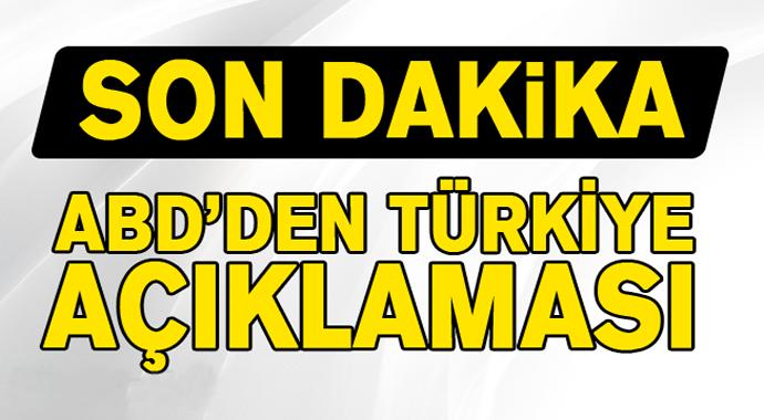 ABD Başkanı Trump'tan Son Dakika Türkiye Açıklaması