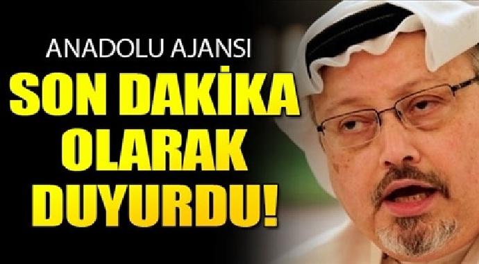 Anadolu ajansı sondakika olarak duyurdu kaşıkçı cinayetinde...