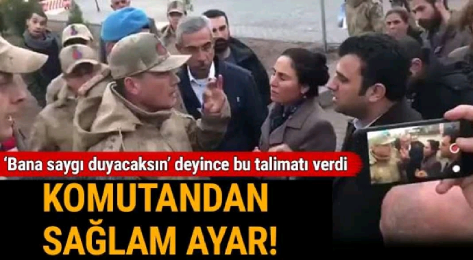 HDP'li vekile komutandan sağlam ayar...