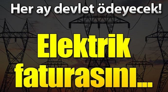 Her ay devlet ödeyecek! Elektrik faturasını...
