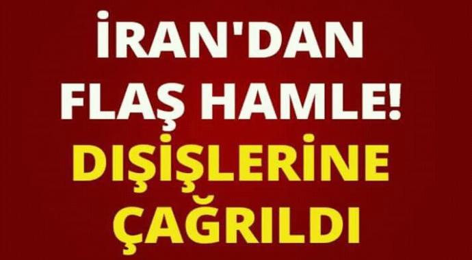 İran'dan flaş hamle dışişlerine çağrıldı