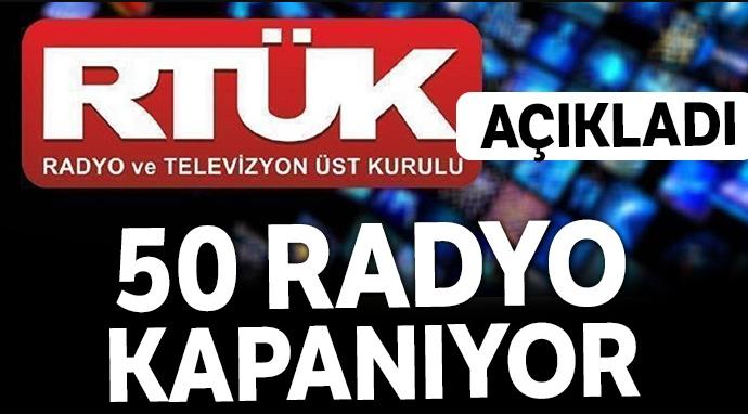 İstanbul'da 50 radyo kapanacak