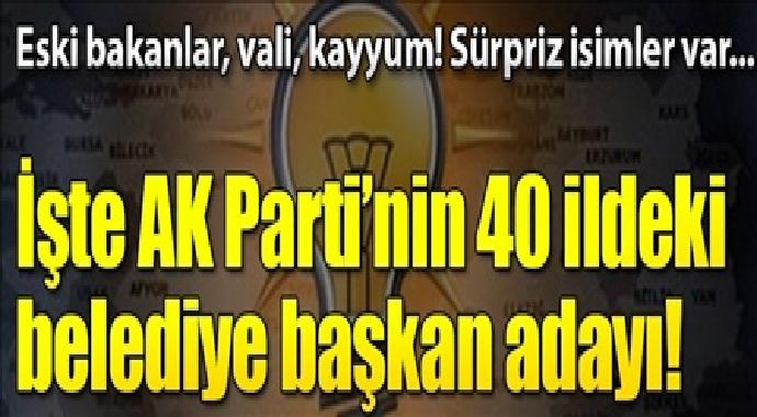 İşte Ak parti'nin 40 ildeki belediye adayları