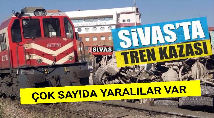 Sivasta tren kazası çok sayıda yaralılar var
