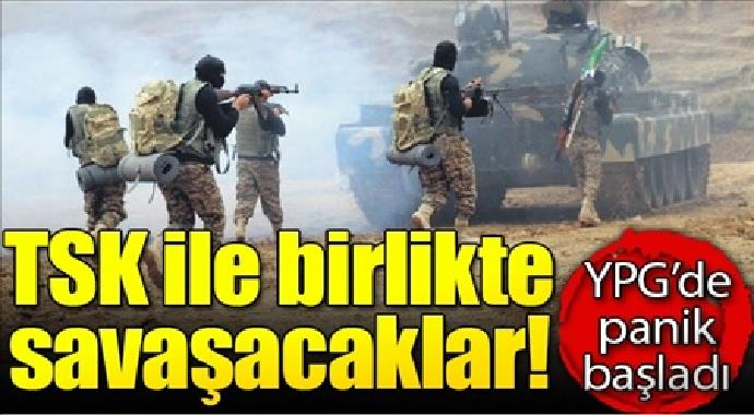 TSK'ile birlikte savaşacaklar YPG'de panik başladı