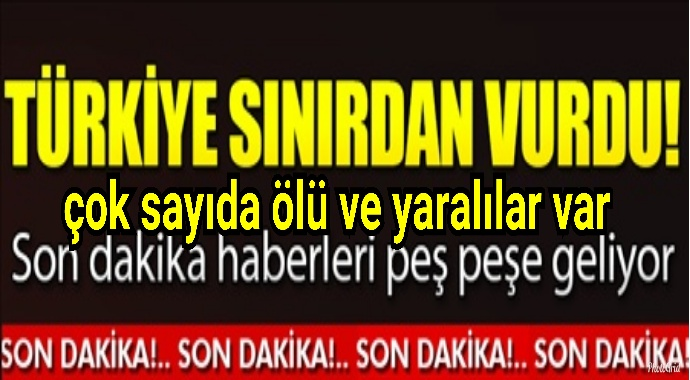 Türkiye sınırdan vurdu çok sayıda ölü ve yaralılar var