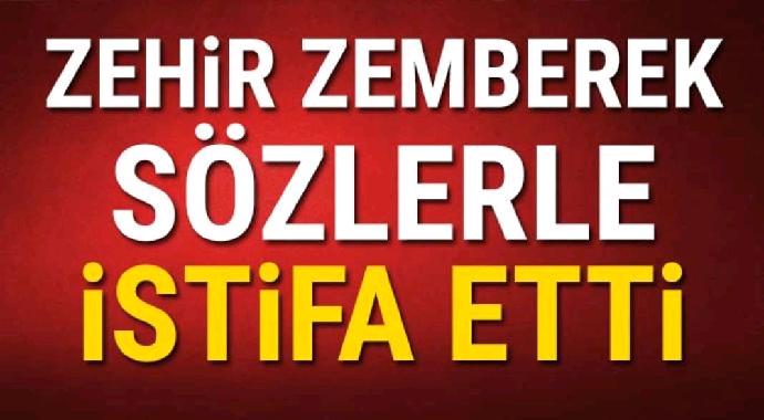 Zehir zemberek sözlerle partisinden istifa etti