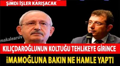 Kılıçdaroğlu'nun koltuğu tehlikeye girince imamoğluna bakın ne hamle yaptı