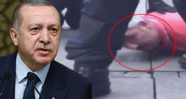 PKK'lılara Tepki Gösterdiği İçin Alman Polisinin Ayaklarıyla Ezdiği Türk'e Erdoğan'dan Telefon