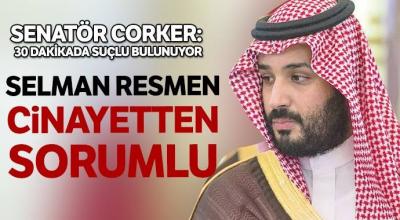 'Selman resmen cinayetten sorumlu'